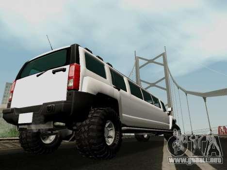 Hummer H3 Limousine para GTA San Andreas left