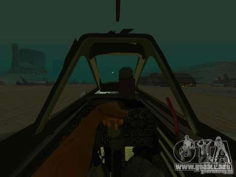 Messerschmitt Me262 para la visión correcta GTA San Andreas