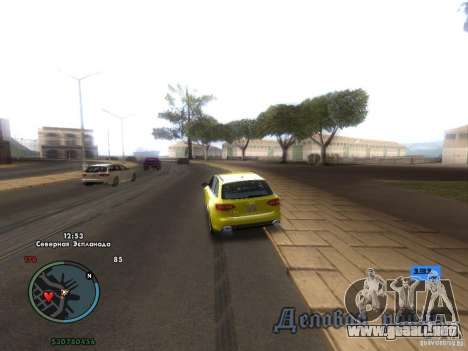 Tacómetro electrónico para GTA San Andreas segunda pantalla