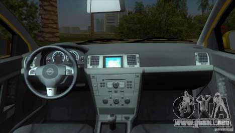 Opel Vectra para GTA Vice City vista posterior