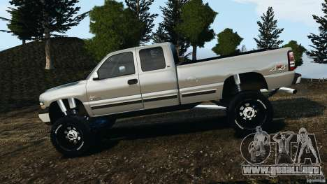 Chevrolet Silverado 2500 Lifted Edition 2000 para GTA 4 left