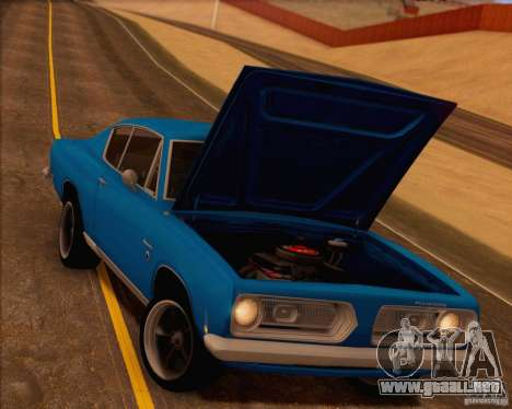 Plymouth Barracuda 1968 para el motor de GTA San Andreas