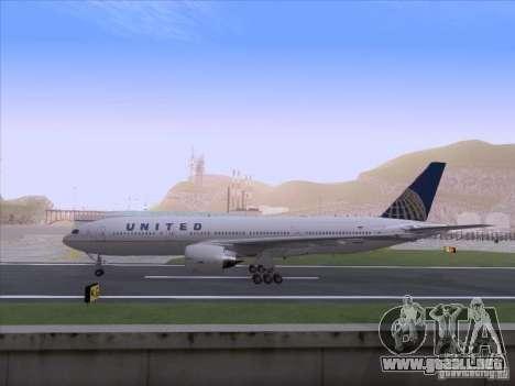 Boeing 777-200 United Airlines para la visión correcta GTA San Andreas