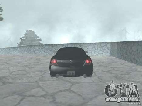 Hyundai Tiburon GT para la visión correcta GTA San Andreas