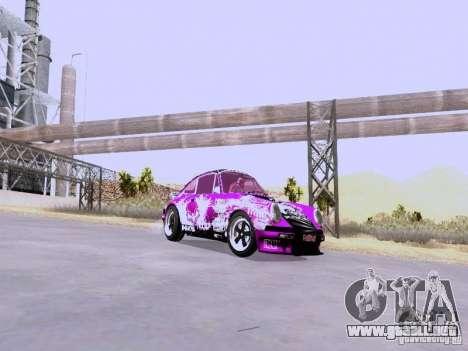 Porsche 911 Pink Power para GTA San Andreas vista posterior izquierda