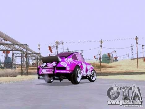 Porsche 911 Pink Power para GTA San Andreas vista hacia atrás