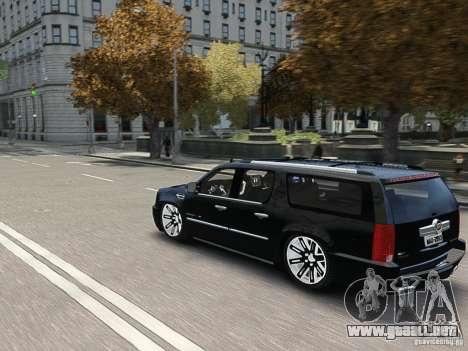Cadillac Escalade ESV 2012 DUB para GTA 4 vista lateral