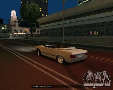 Feltzer v1.0 para GTA San Andreas vista hacia atrás