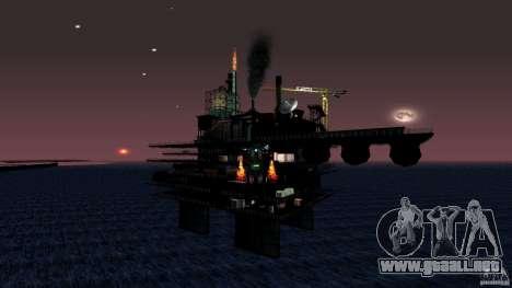 Plataforma petrolífera en Los Santos para GTA San Andreas quinta pantalla