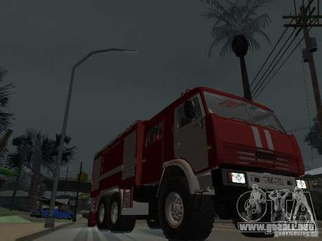 KAMAZ 43118 AC-7 para GTA San Andreas vista hacia atrás
