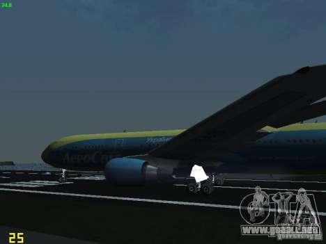 Boeing 767-300 AeroSvit Ukrainian Airlines para vista lateral GTA San Andreas
