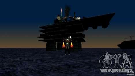 Plataforma petrolífera en Los Santos para GTA San Andreas sucesivamente de pantalla