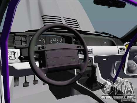 Ford Mustang Drift para vista lateral GTA San Andreas