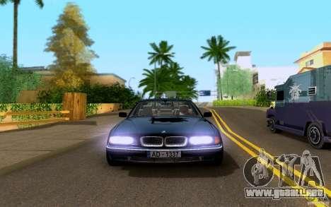 BMW 730i E38 FBI para GTA San Andreas vista hacia atrás