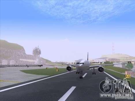 Boeing 777-200 United Airlines para GTA San Andreas vista posterior izquierda