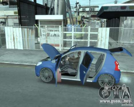 Renault Sandero v1.0 para GTA 4 vista interior