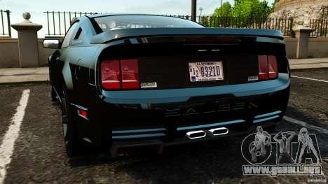 Saleen S281 Extreme Unmarked Police v1.5 para GTA 4 Vista posterior izquierda