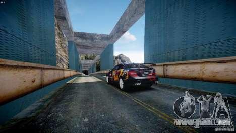 Mercedes Benz C63 AMG SAIBON Paint Job para GTA 4 visión correcta
