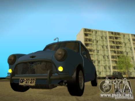 Mini Cooper 1965 para GTA San Andreas vista posterior izquierda