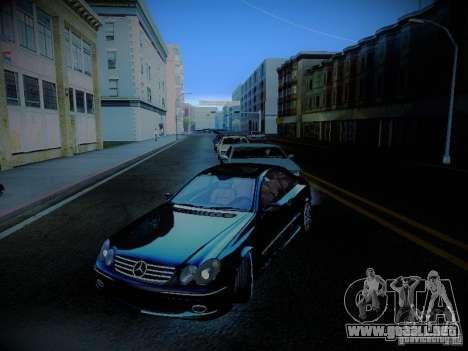 Mercedes-Benz CLK 55 AMG Coupe para la vista superior GTA San Andreas