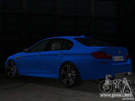 BMW M5 F10 2012 para GTA Vice City vista lateral izquierdo