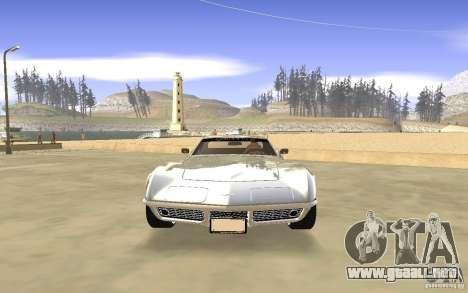 Chevrolet Corvette Stingray Monster Energy para vista lateral GTA San Andreas