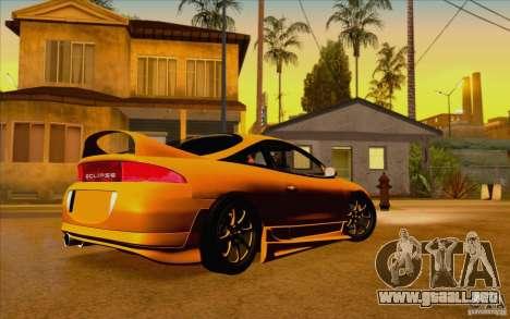 Mitsubishi Eclipse GSX Mk.II 1999 para GTA San Andreas left