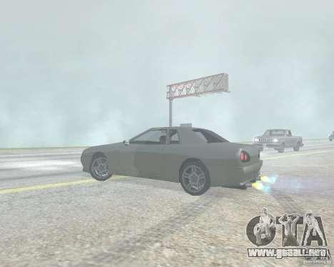 El borrón cuando usando Nitro para GTA San Andreas sucesivamente de pantalla