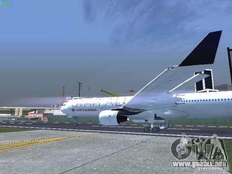 Airbus A330-300 Air Canada para GTA San Andreas vista hacia atrás