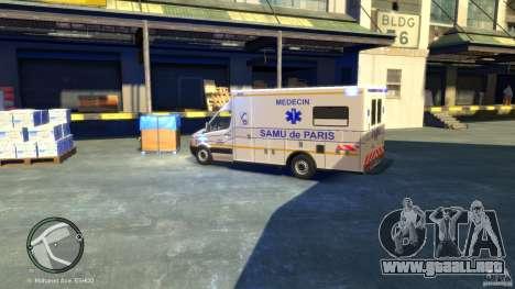 Mercedes-Benz Sprinter Ambulance para GTA 4 Vista posterior izquierda