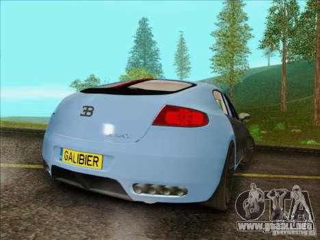 Bugatti Galibier 16c para GTA San Andreas vista hacia atrás
