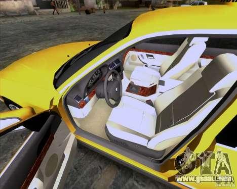 BMW 730i E38 1996 Taxi para vista lateral GTA San Andreas