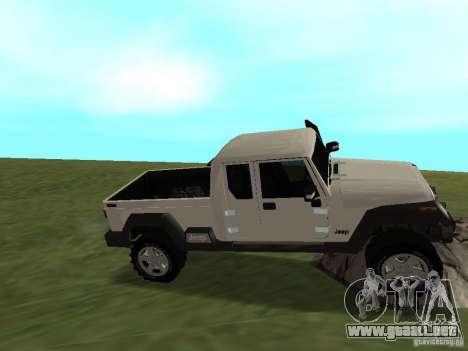 Jeep Gladiator para visión interna GTA San Andreas