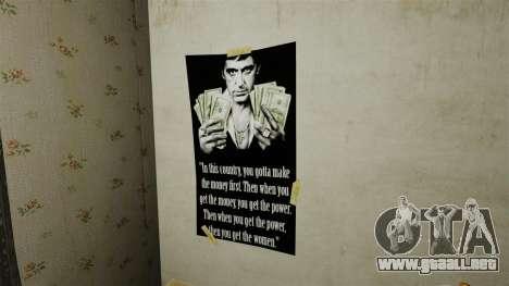 Nuevos carteles en el apartamento del segundo para GTA 4 adelante de pantalla