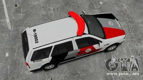 Volkswagen Parati G4 PMESP ELS para GTA 4 visión correcta