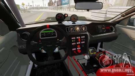 Ford Mustang 2010 GT1 para GTA 4 Vista posterior izquierda
