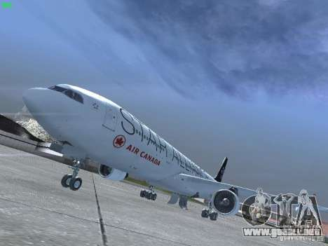 Airbus A330-300 Air Canada para GTA San Andreas left