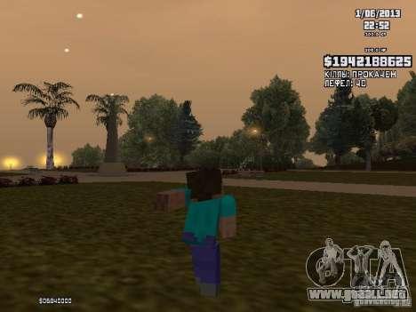 Steve para GTA San Andreas tercera pantalla