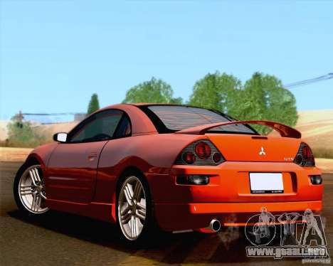 Mitsubishi Eclipse GTS 2003 para GTA San Andreas vista hacia atrás