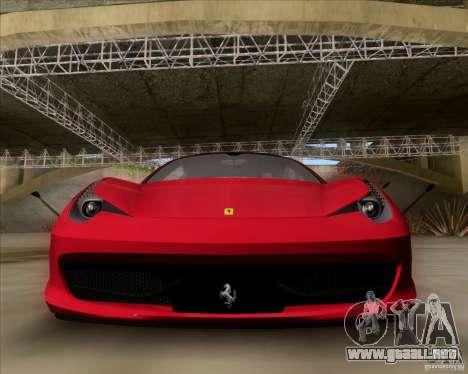 Ferrari 458 Italia V12 TT Black Revel para GTA San Andreas left