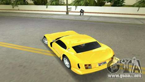 TVR Cerbera Speed 12 para GTA Vice City visión correcta