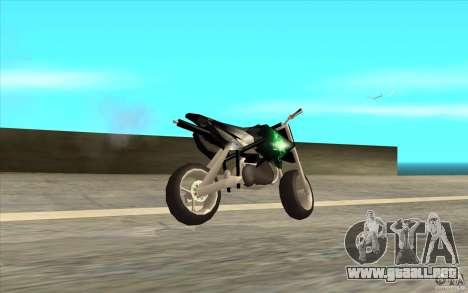 Black Rockstar Moto Cross para GTA San Andreas left
