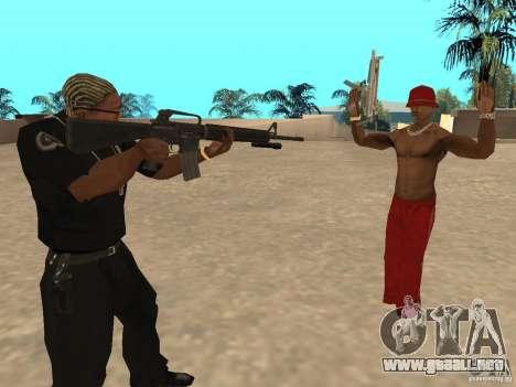 M4A1 from Left 4 Dead 2 para GTA San Andreas segunda pantalla