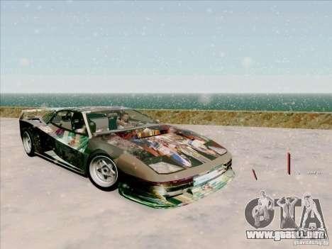 Ferrari Testarossa Custom para visión interna GTA San Andreas