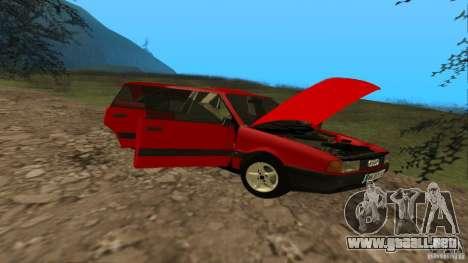 Audi 80 B3 v2.0 para visión interna GTA San Andreas