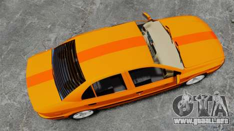 Iran Khodro Samand LX Taxi para GTA 4 visión correcta