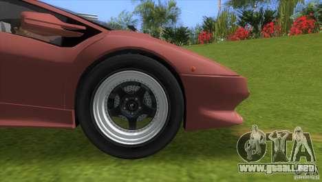 Lamborghini Diablo VTTT Black Revel para GTA Vice City visión correcta