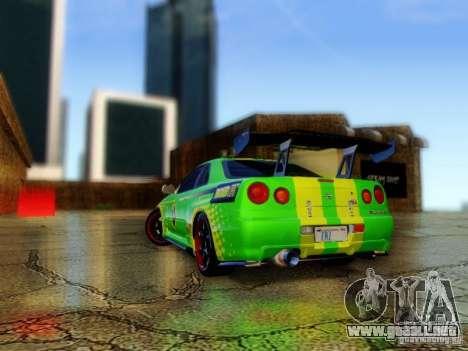 Nissan Skyline GT-R R34 para GTA San Andreas left