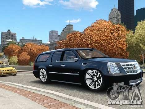 Cadillac Escalade ESV 2012 DUB para GTA 4 Vista posterior izquierda