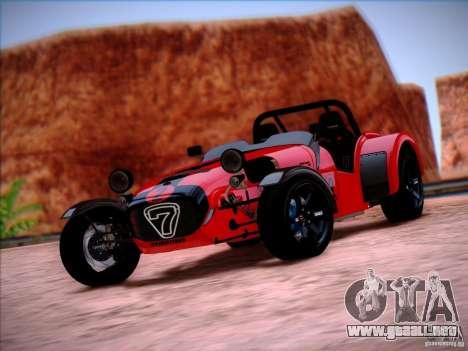 Caterham Superlight R500 para la visión correcta GTA San Andreas